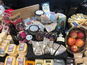 A glimpse of the cheese selection at GreenWise Market