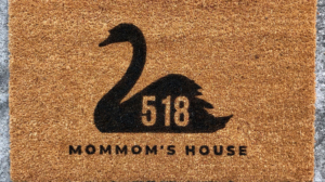 Photo of a swan doormat by 863 company.